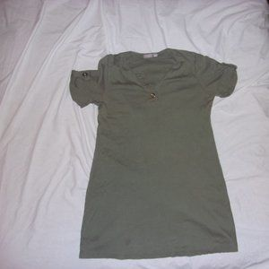 Chico's Olive Green Tunic Top 2 L 12